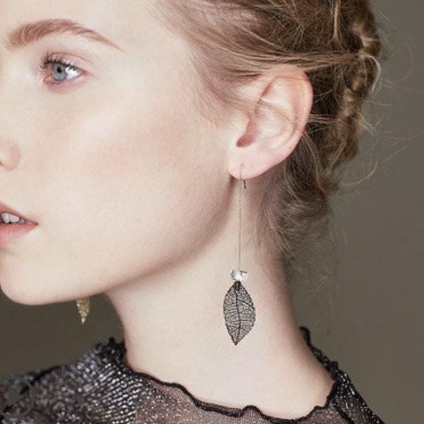 Leaf Dangler Earrings