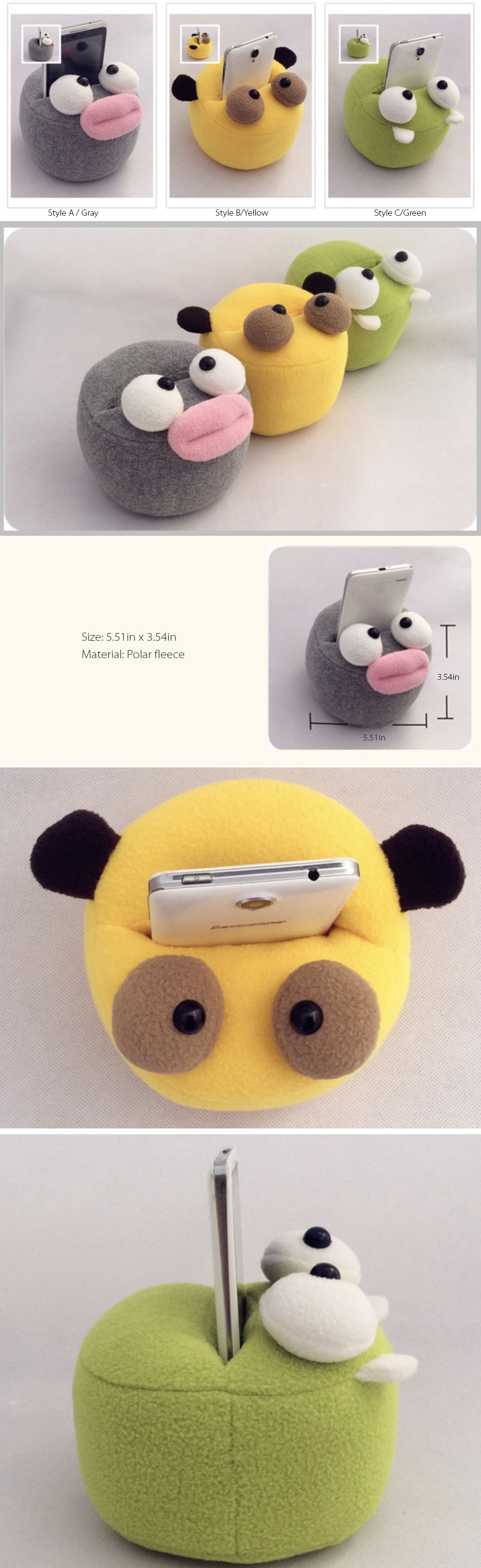 Animal Phone Stand Cute Gadget