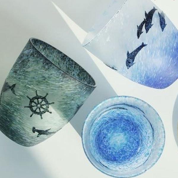 Ocean Flurries Glass