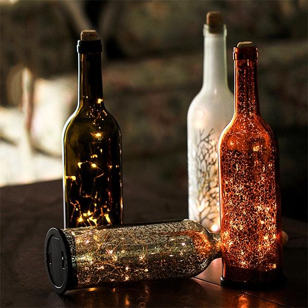 Decorative LED Wine Bottle Light