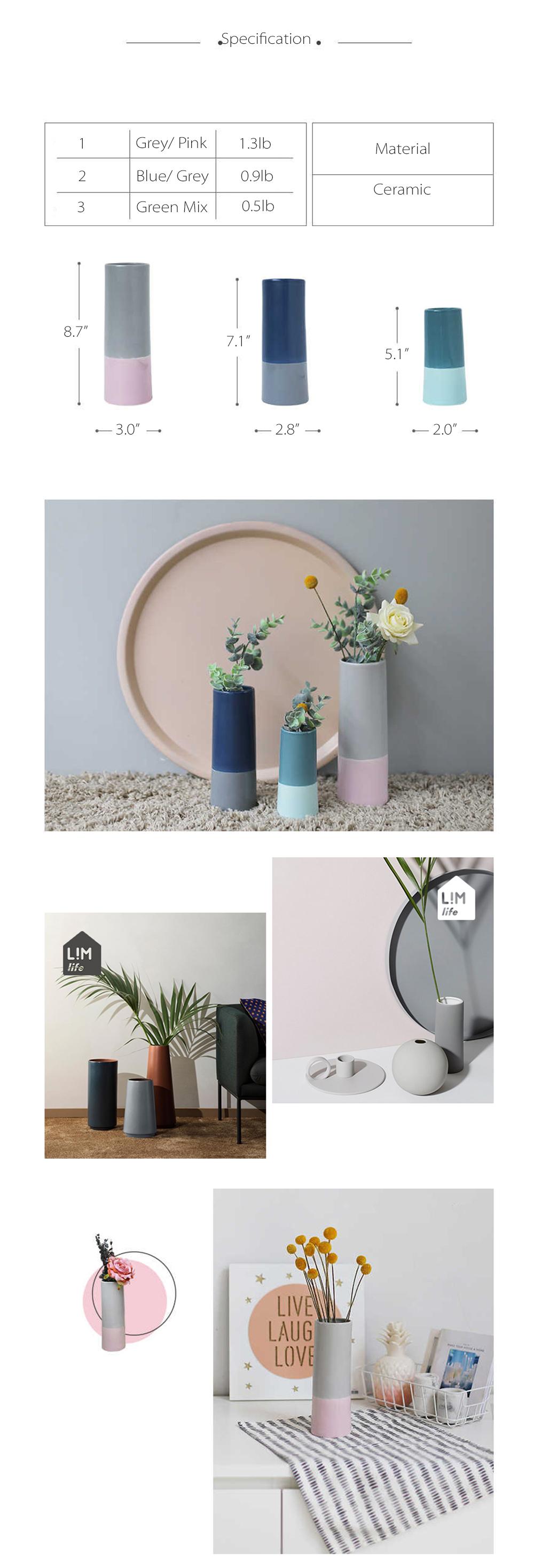 Mosaic Porcelain Vase Elegant and Colorful Vases