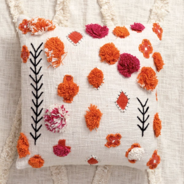 product image for Colorful Hand Embroidered Cushion