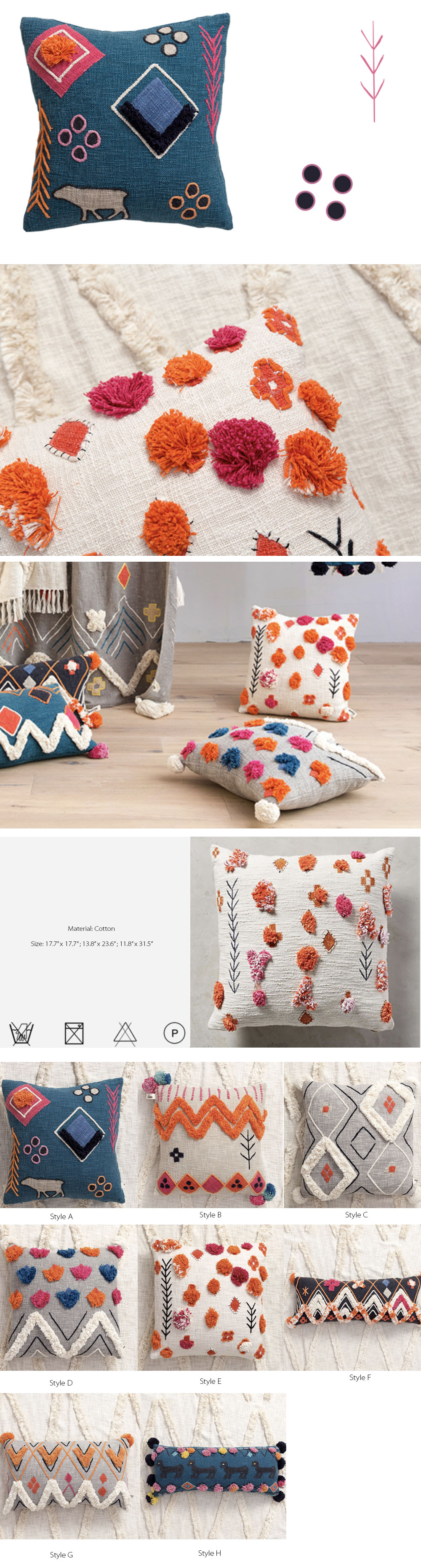 Colorful Cushion Moroccan Style