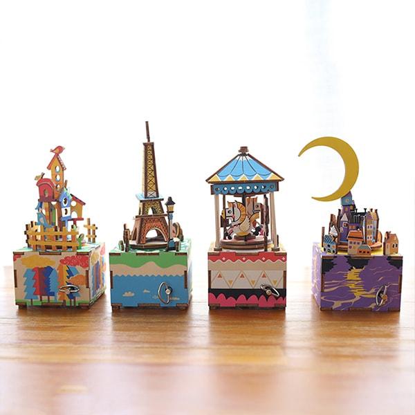 3D Wood Music Box