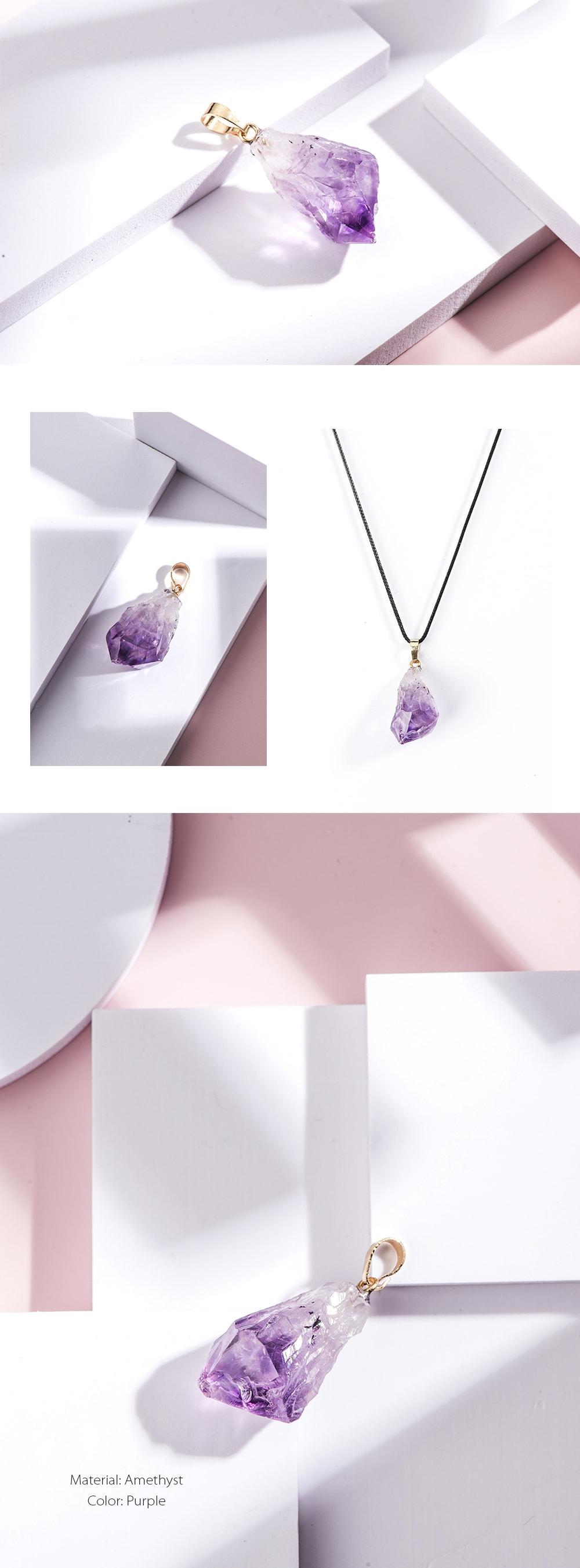Purple Crystal Pendant Natural Stone