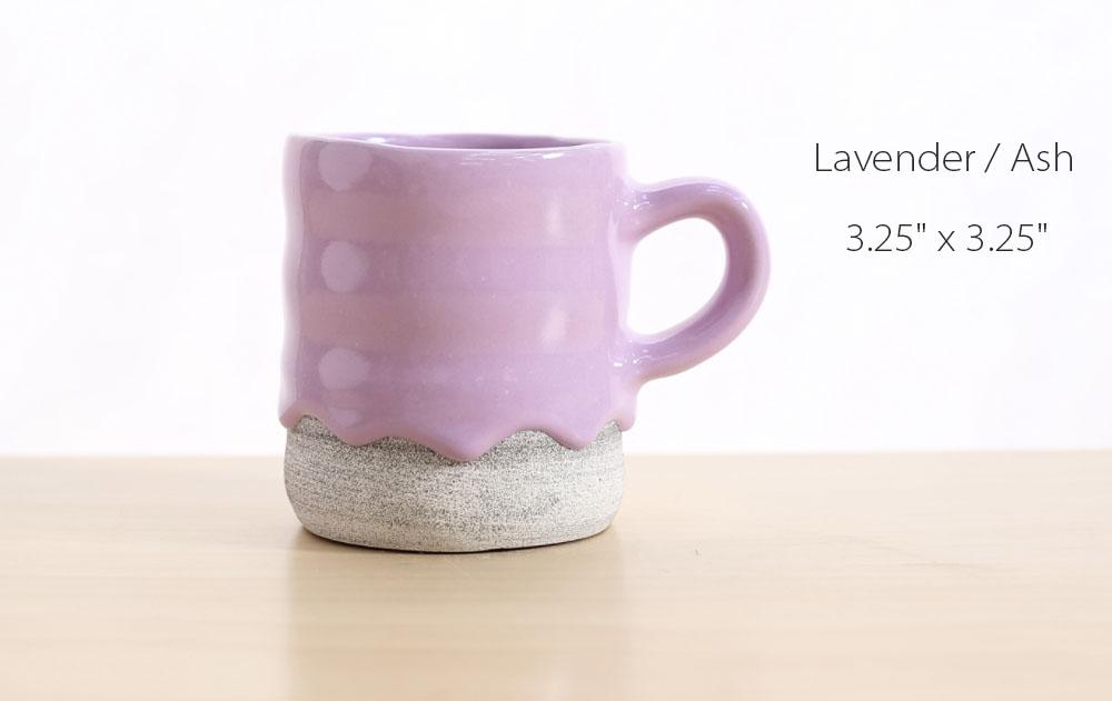 Lavender Mug Dripping Design