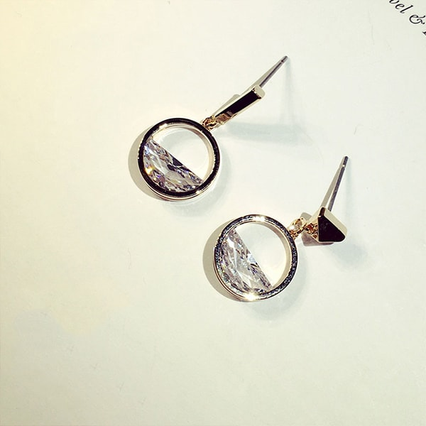 product image for Geometric Zircon Earrings