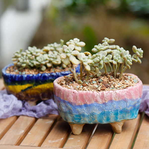 Footed Tub Flower Pot