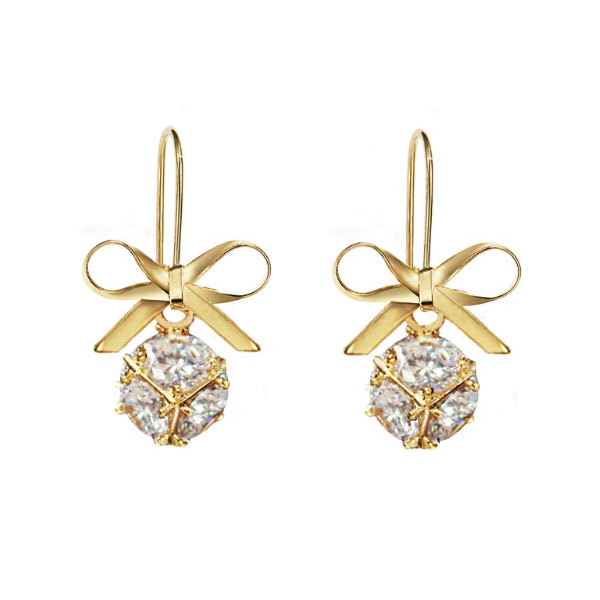 Bowknot Crystal Earrings