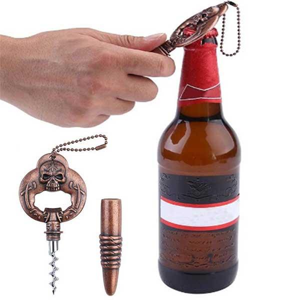 Skull & Bullet Combo Bottle Opener