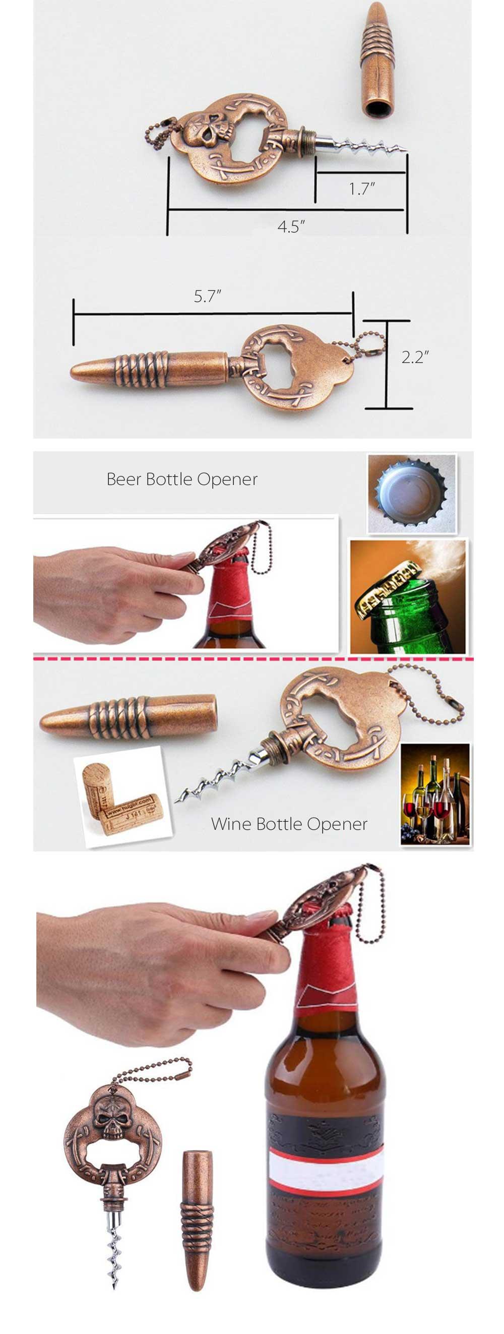 Skull 2 in 1 Beer Bottle Opener Creative Design