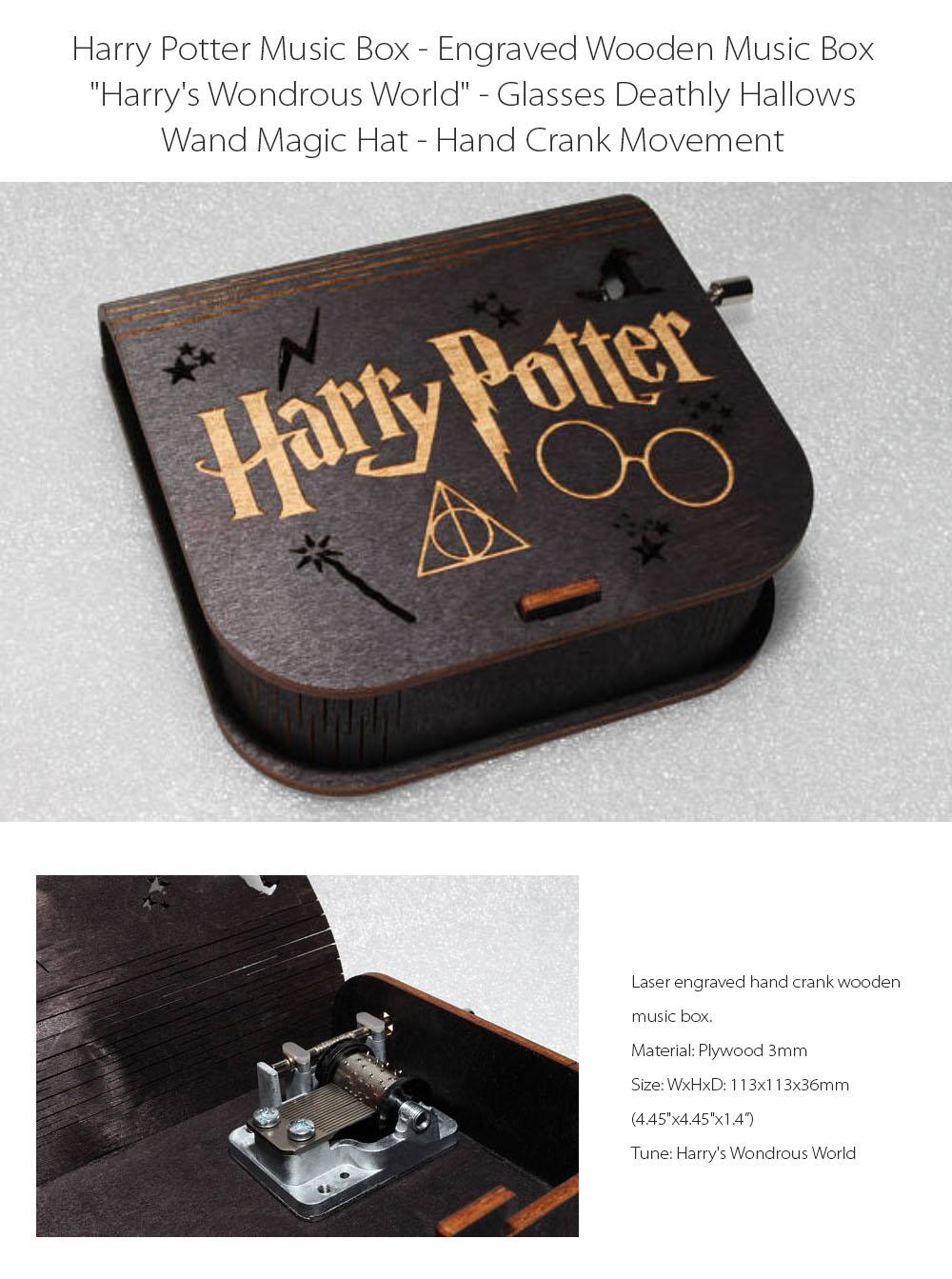 Harry Potter Music Box Harry's Wondrous World