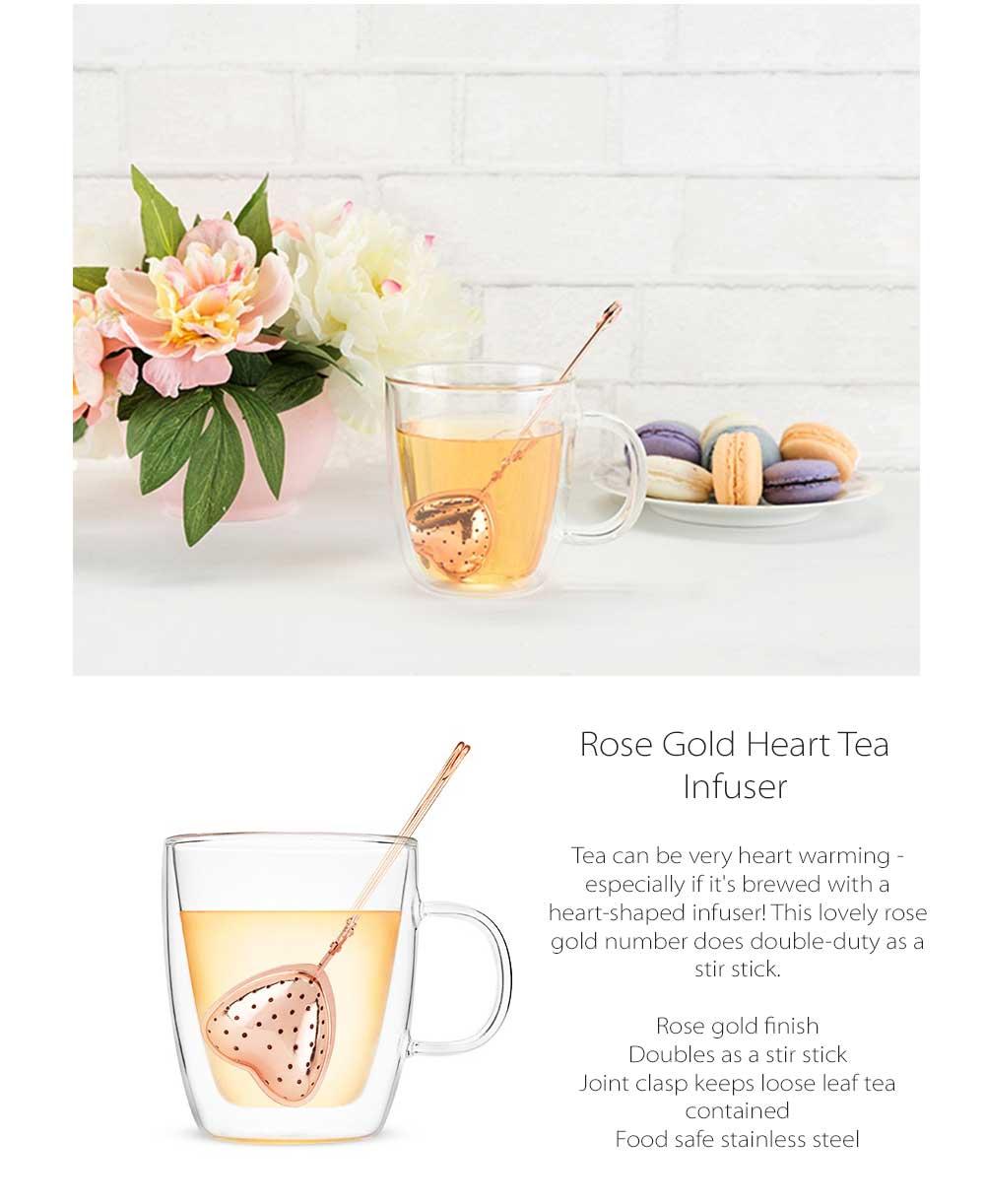 Rose Gold Tea Infuser Doubles As A Stir Stick