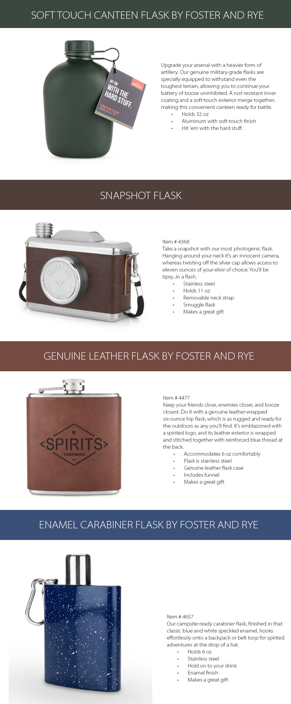 Flask by FOSTER and RYE Outdoors Must-have