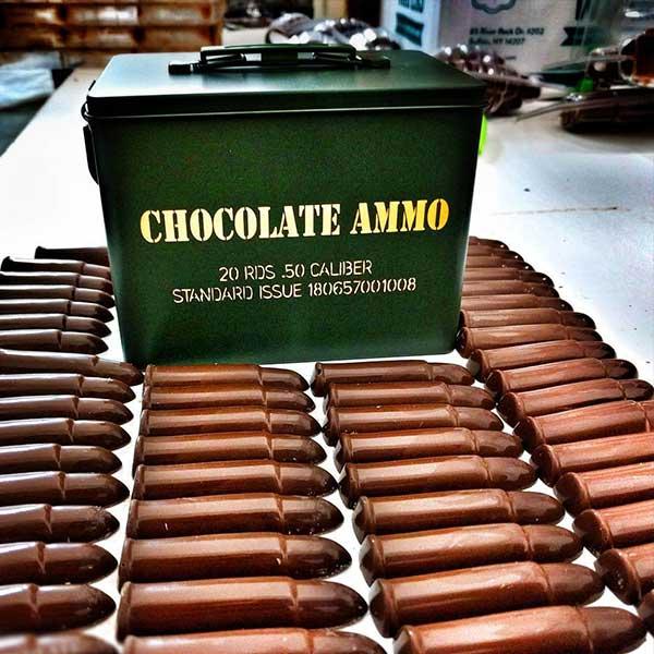 Chocolate Bullets in Mini Ammo Box