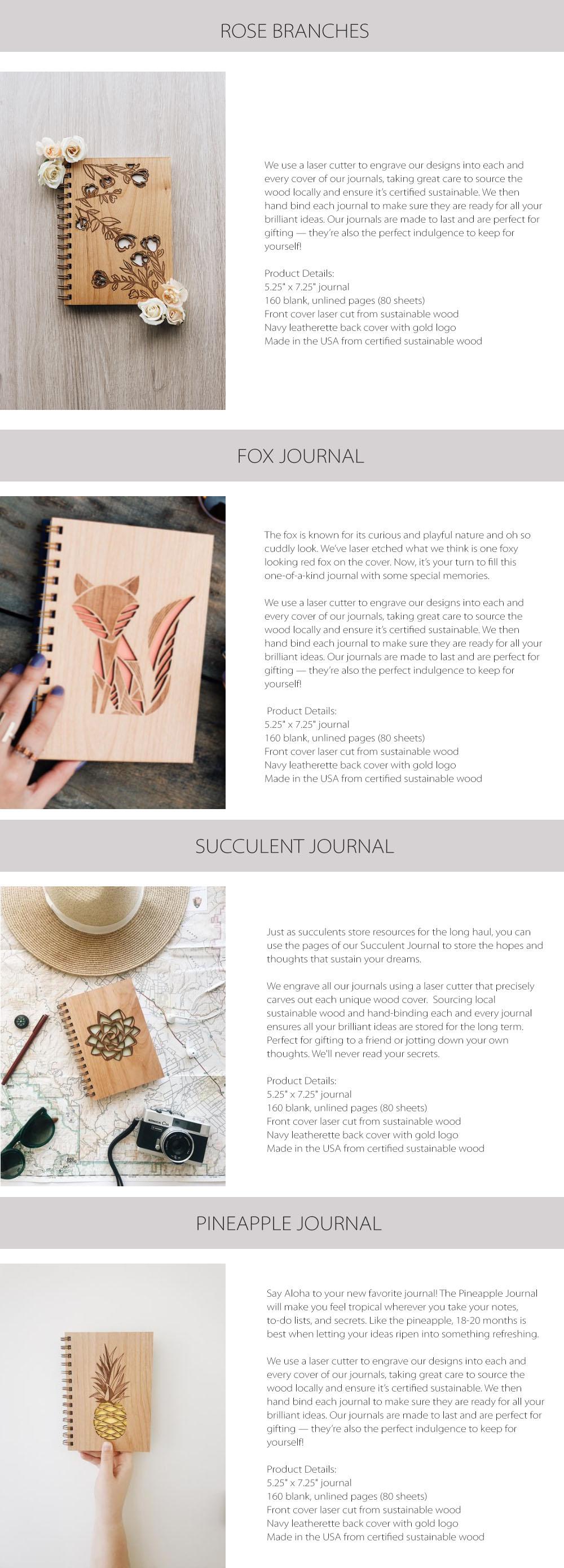 Wooden Journal Unique Design
