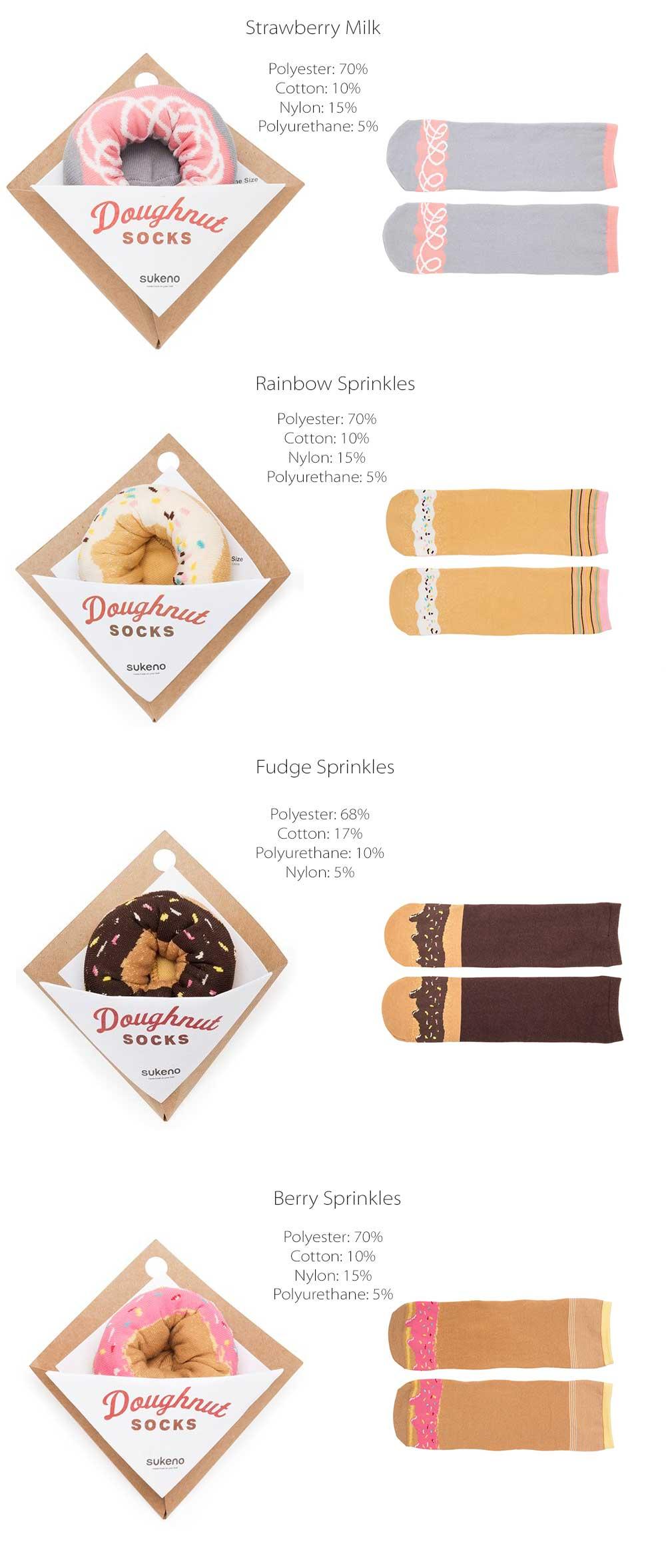 Doughnut Socks Cute Design