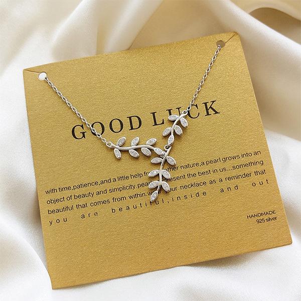 Good Luck Leafy Vine Necklace