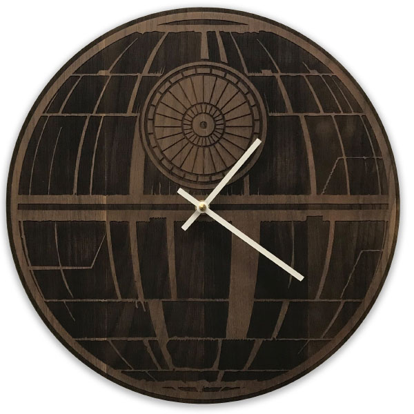 product image for Wooden Star Wars Clock