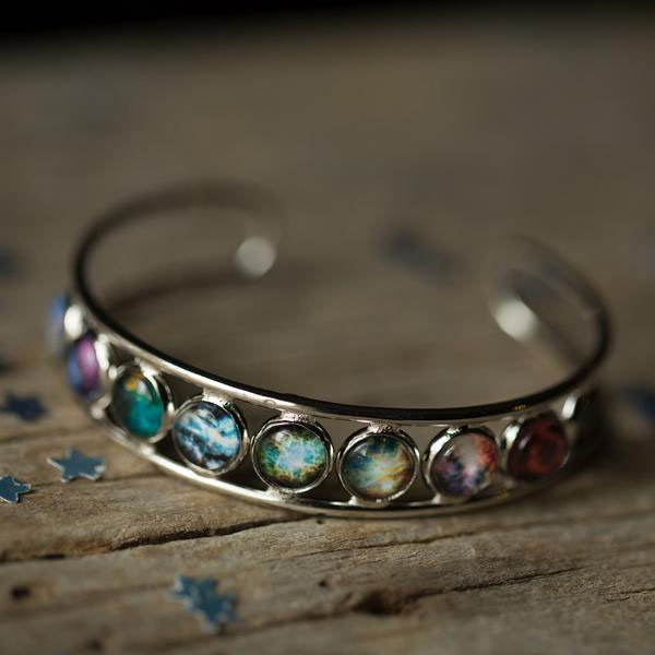 Nebula Rainbow Cuff Bracelet