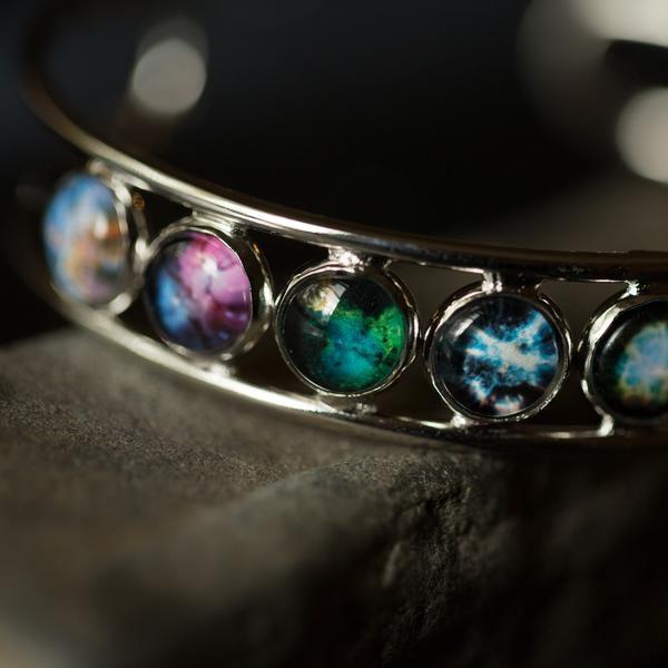 product image for Nebula Rainbow Cuff Bracelet