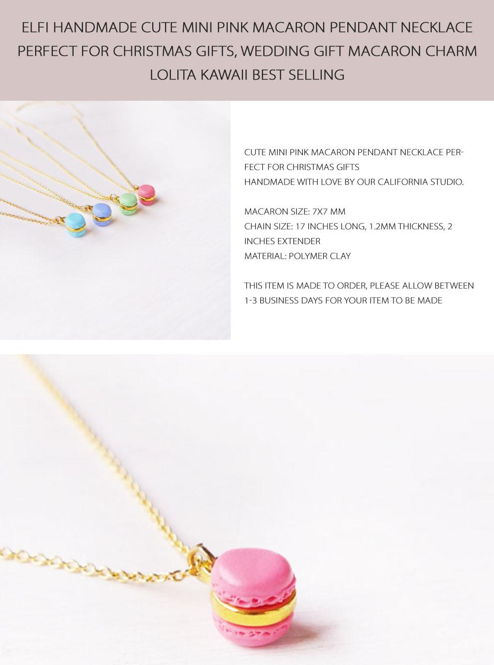 Mini Macaron Necklace Food Pendant Necklace