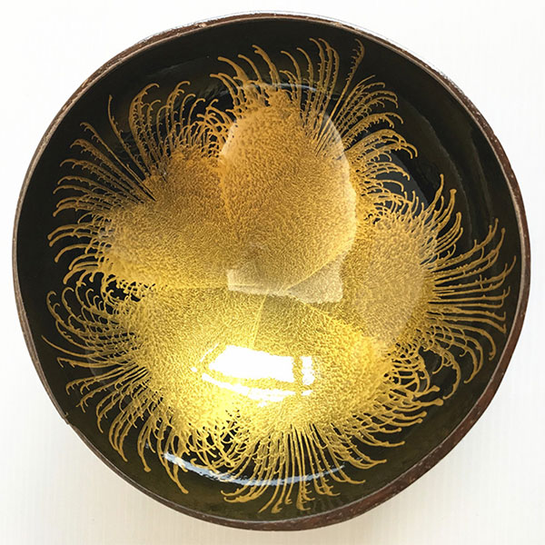 Fireworks Coconut Shell Bowl