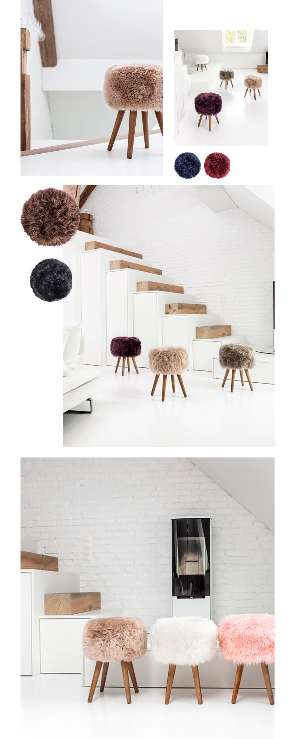 New Zealand Sheepskin Stool Extra Comfort and Style to Your Home