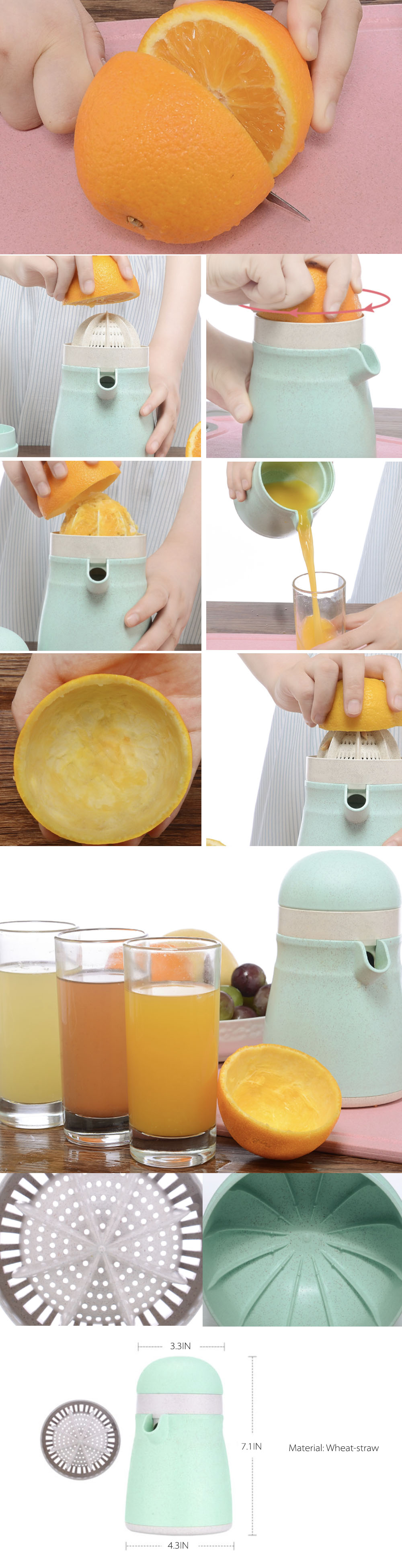 Orange Juice Manual Squeezer Citrus Juicer