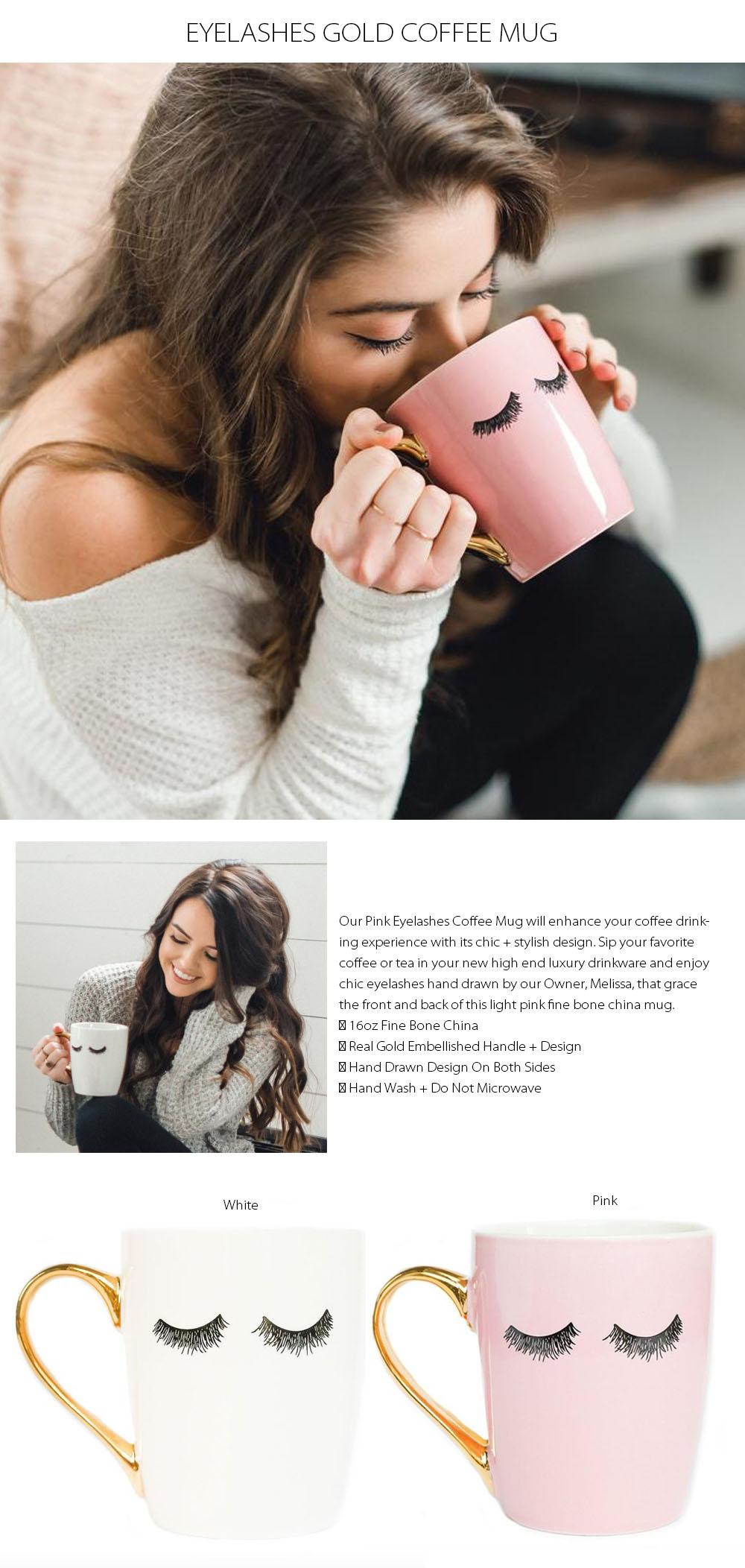 Eyelashes Coffee Mug Chic Design