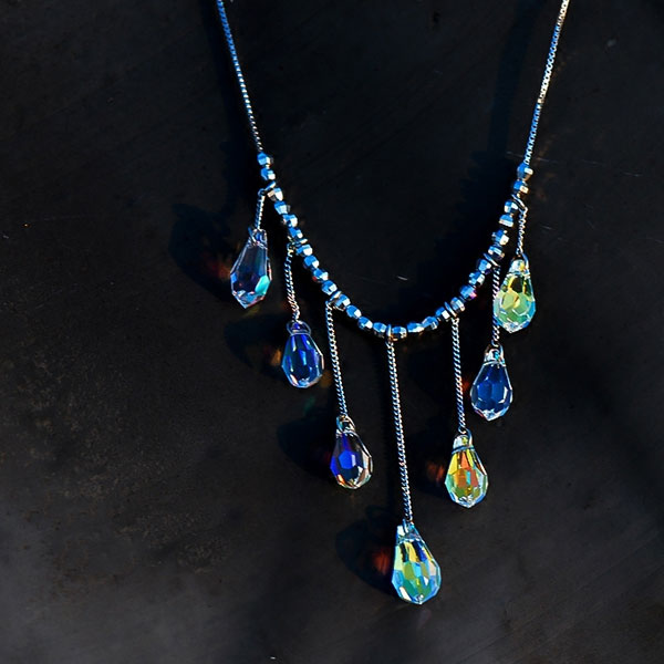 Falling Raindrops Necklace