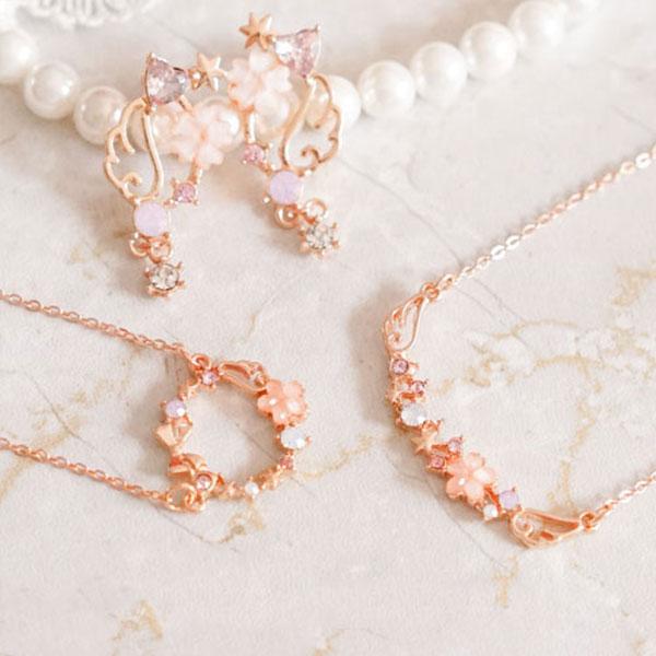 Sakura Angel Wings Jewelry