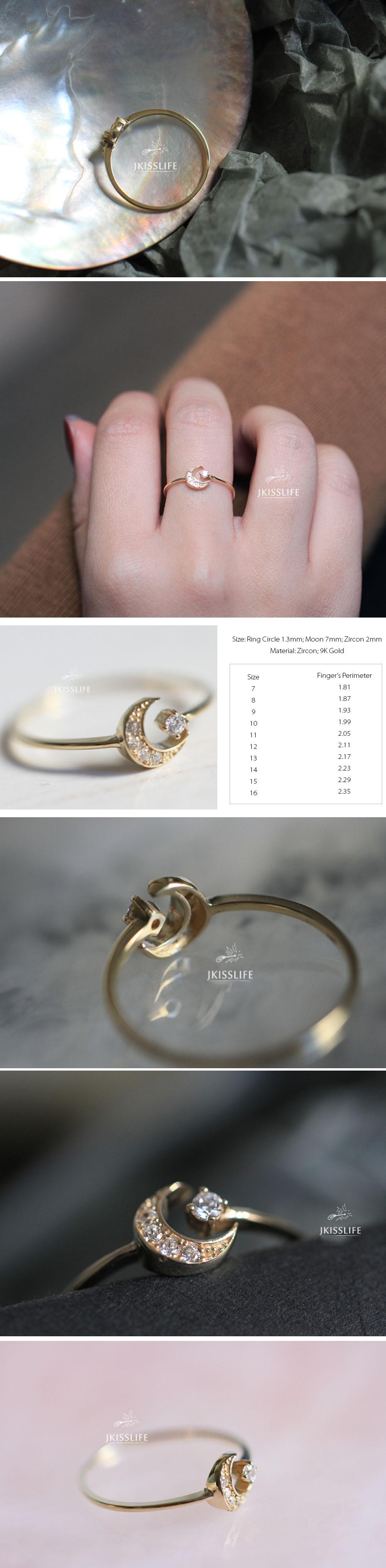 Moon Star Ring Cosmic Jewelry