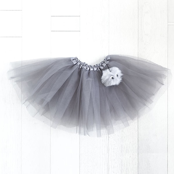 Tutu with Faux Fur Pompom Buddy  (OUT OF STOCK)