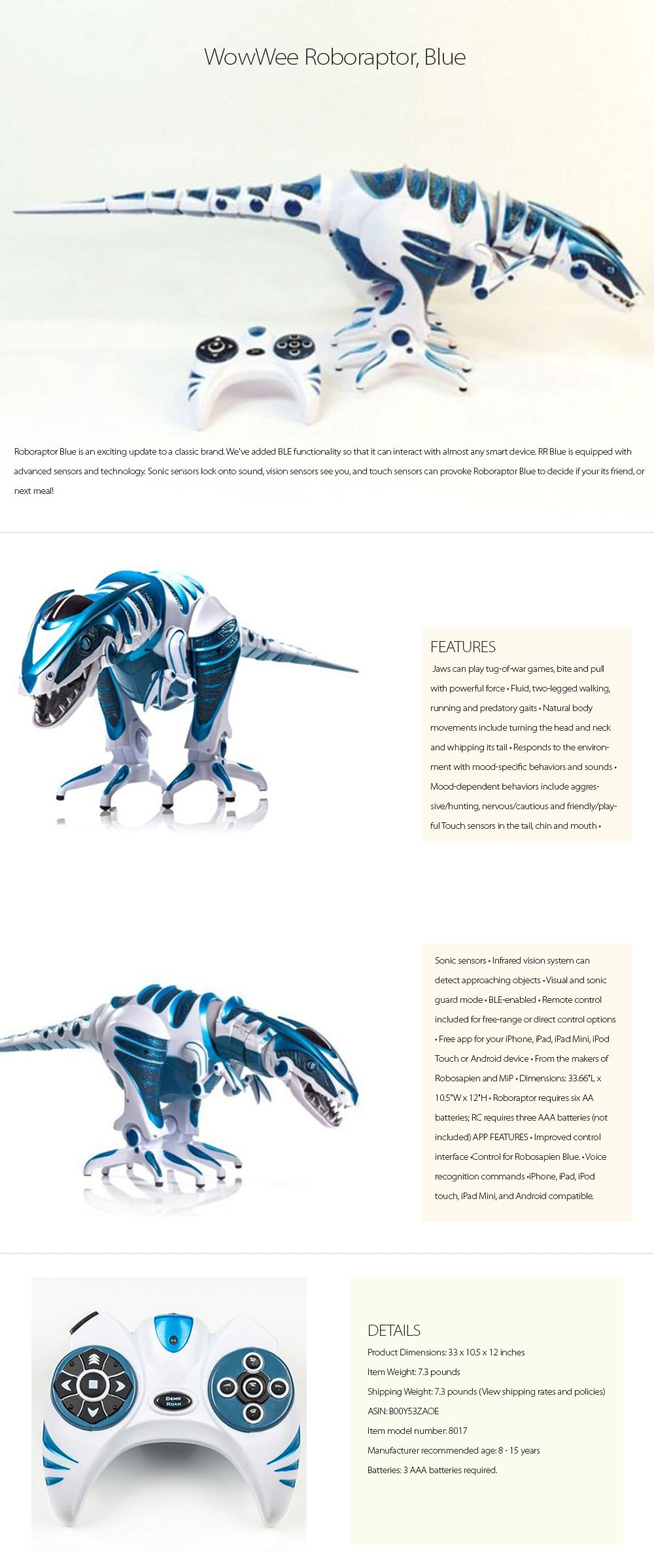 Roboraptor Blue Perfect Gift for Your Son