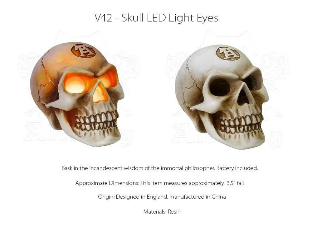 Skull LED Light Eyes Designed in England