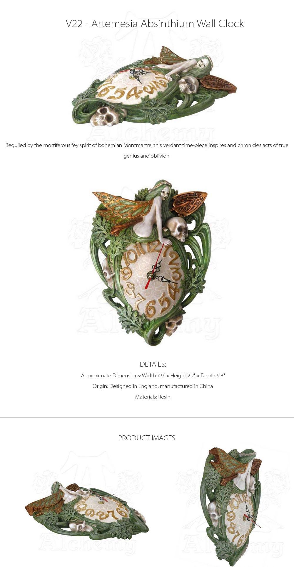 Artemesia Absinthium Wall Clock True Genius And Oblivion