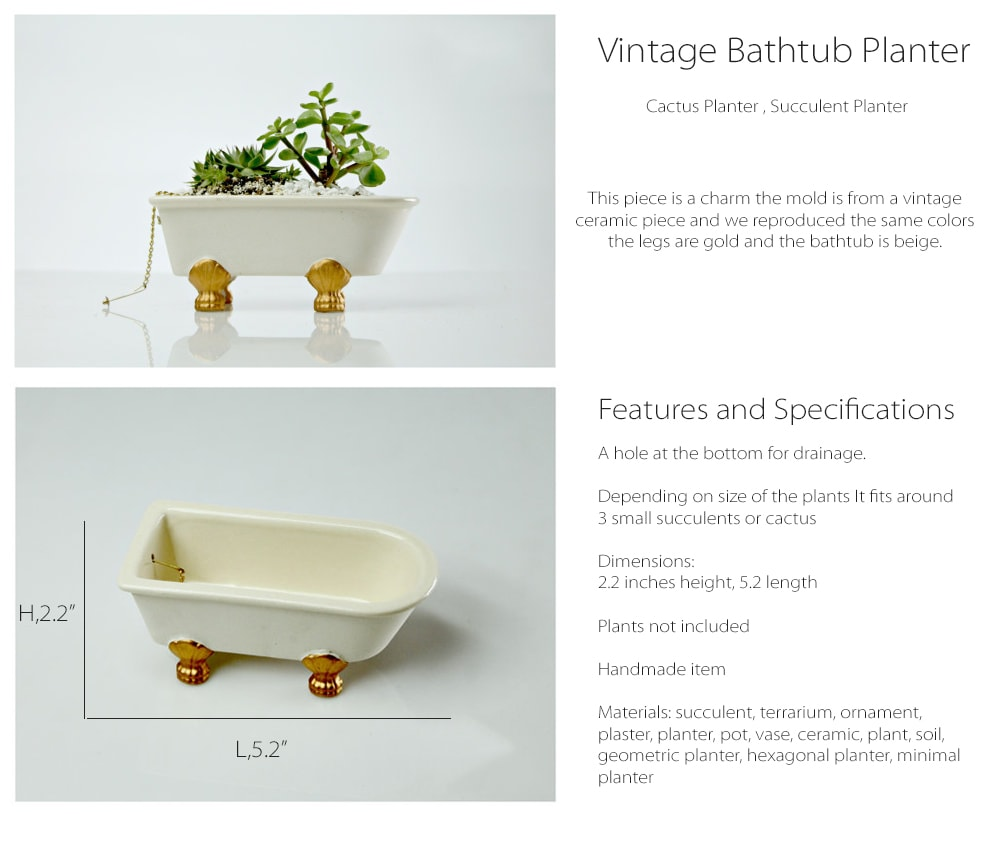 Vintage Bathtub Planter Get It And You Will Love It