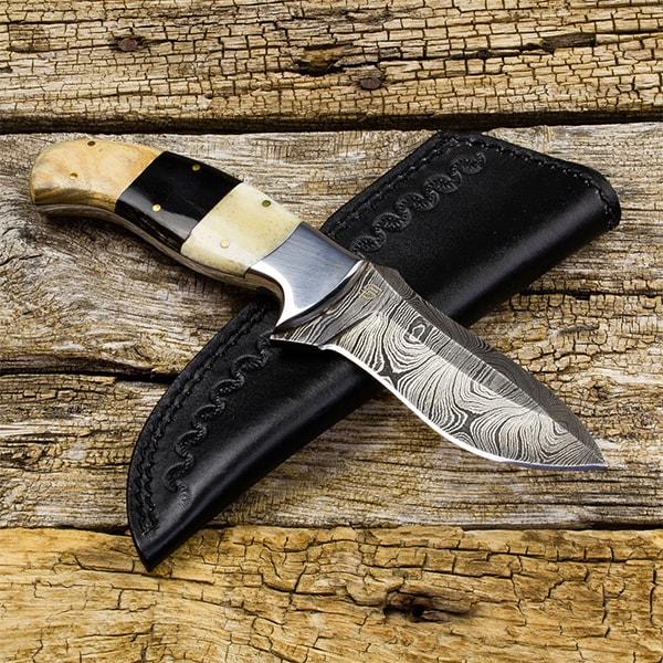 Kazakh Hunter Damascus Steel Knife