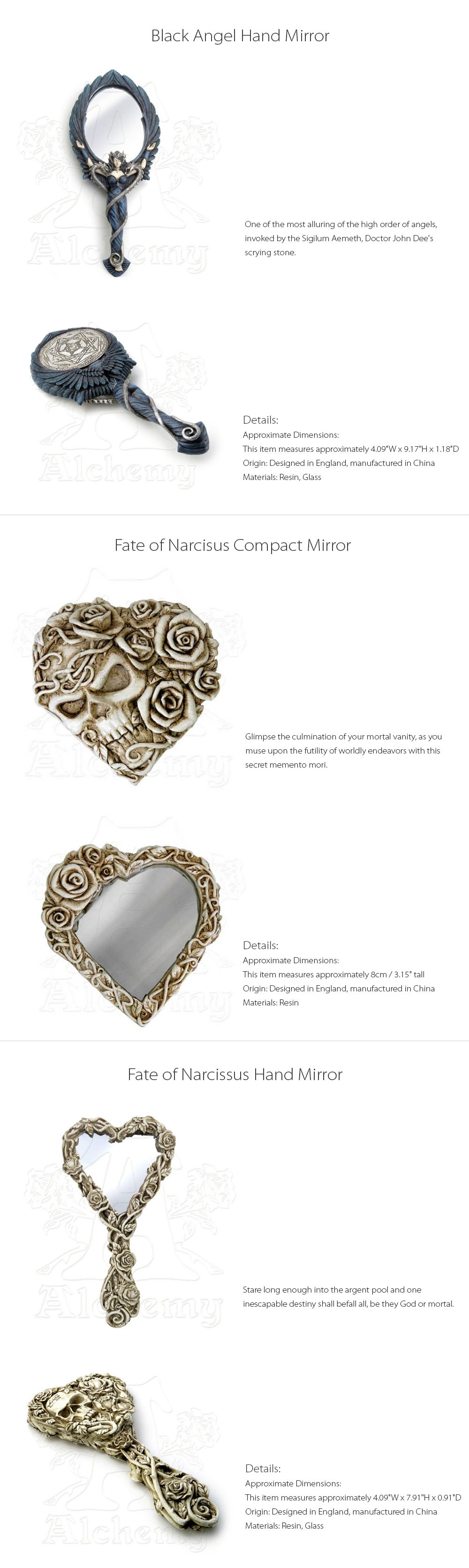 Hand Mirror Designed in England