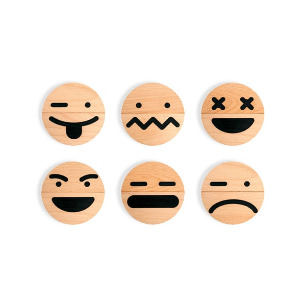 Wood Emoji (10 pcs) Set