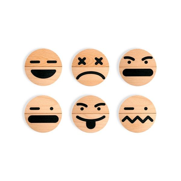 product image for Wood Emoji (10 pcs) Set
