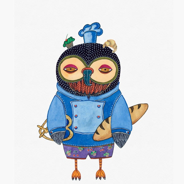 product image for Character Owls Giclee Print