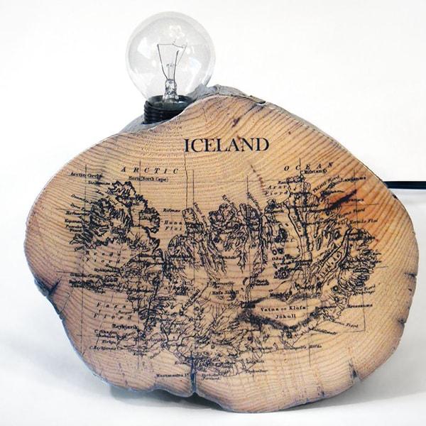Iceland Map Lamp