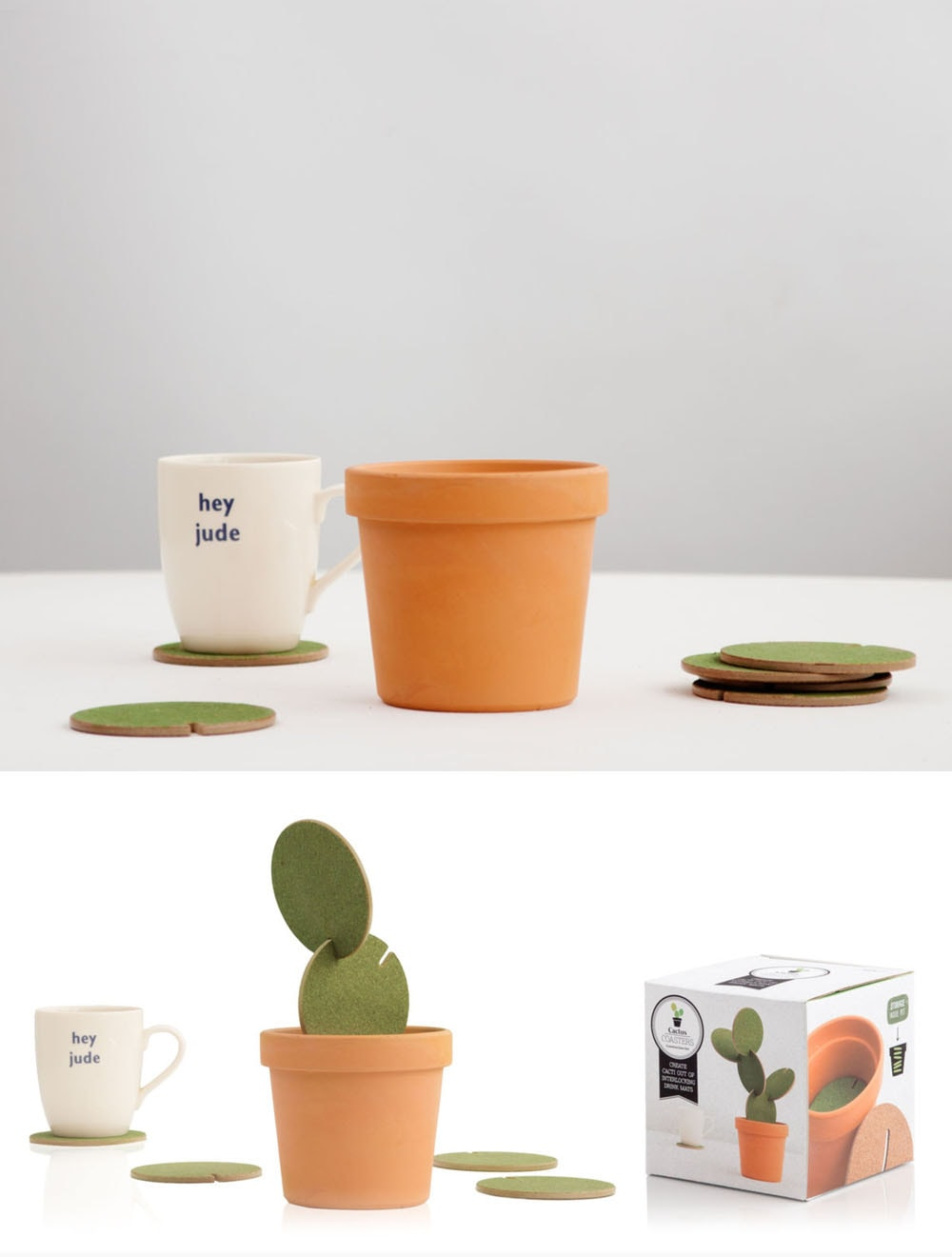 Cactus Coasters Construction Set Create Cacti Out Of Interlocking Drinks Mats