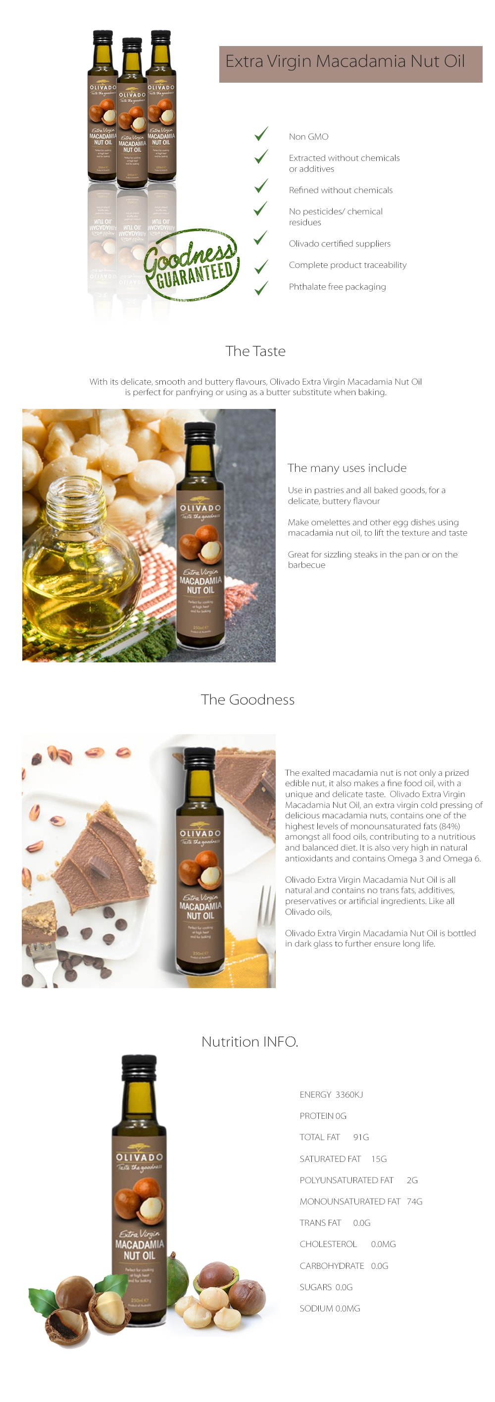 Extra Virgin Macadamia Nut Oil Perfect For Panfrying Or Butter Substitute