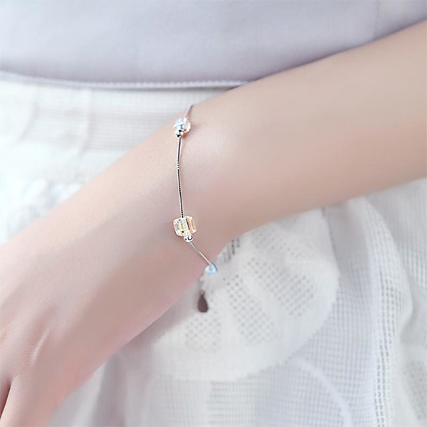 Crystal Cubes Pleasure Bracelet