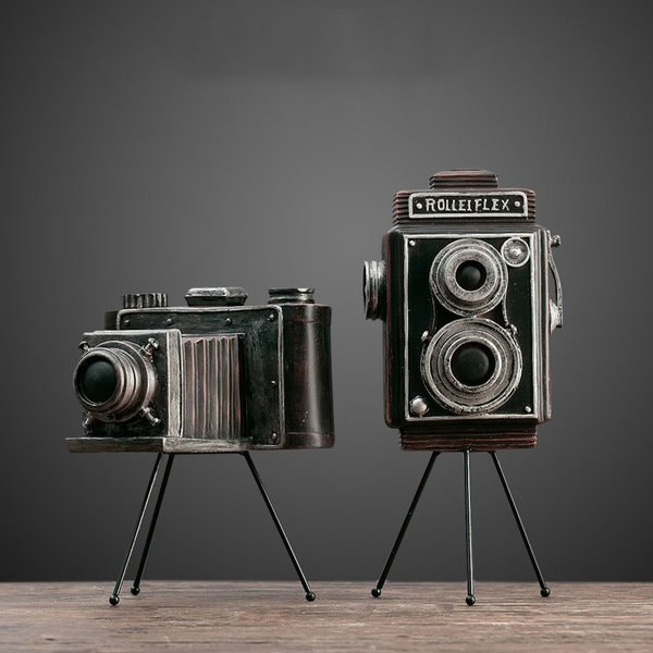 Vintage Tabletop Camera Decor