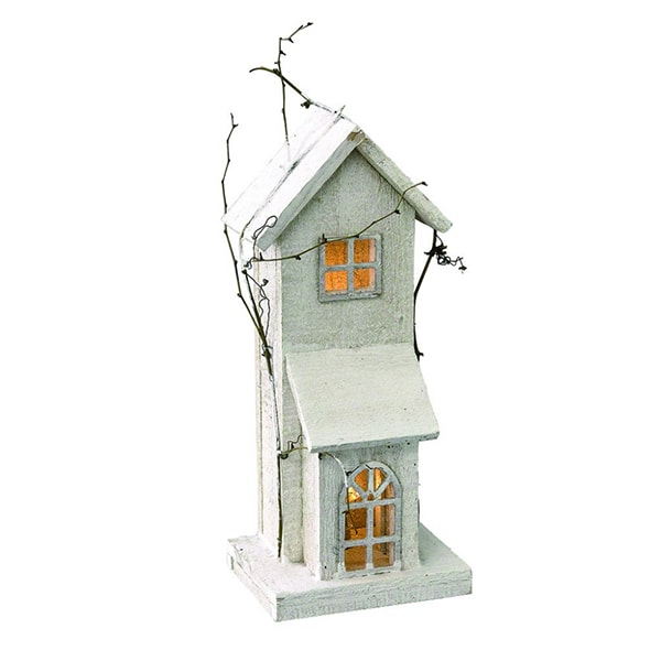 product image for White Wood LED House Tall