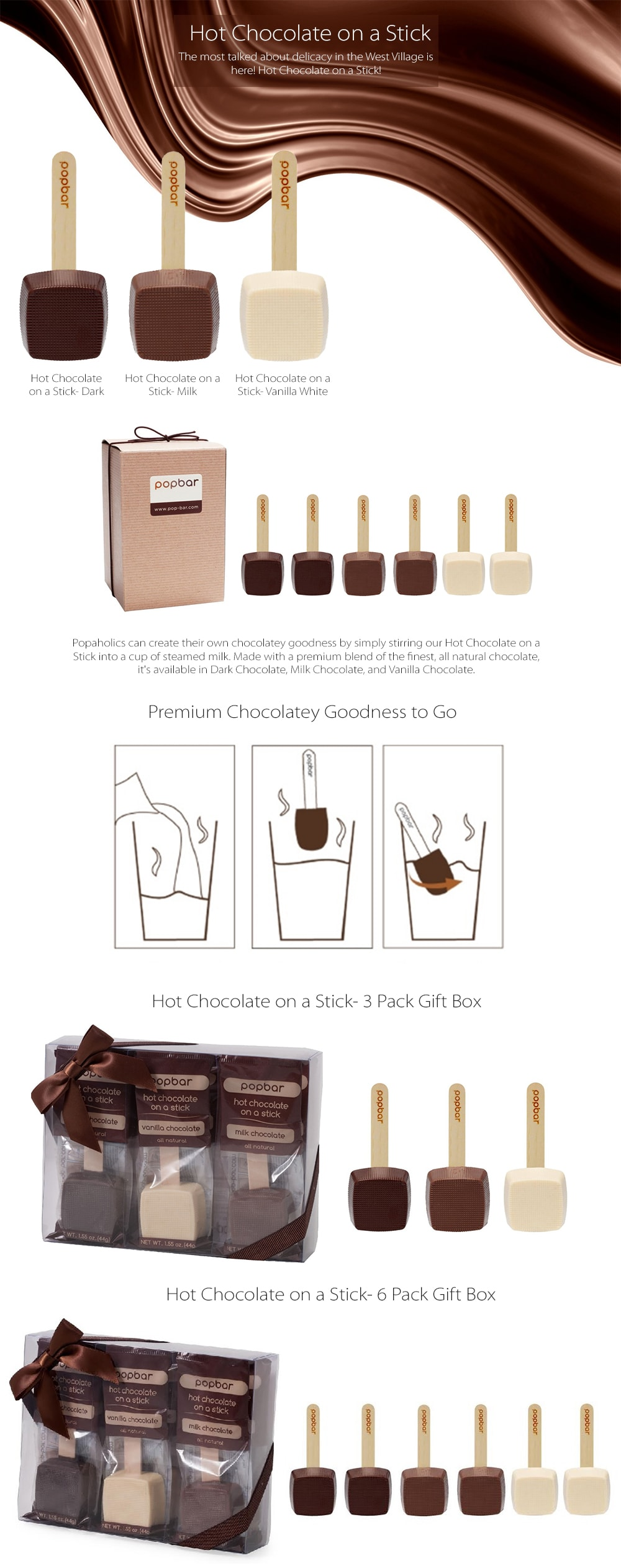 Hot Chocolate On A Stick Create Your Own Chocolatey Goodness
